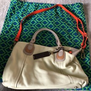 orYANY Bags - ORYANY cream leather satchel (anthropologie)